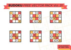 sudoku free vector pack vol. 31