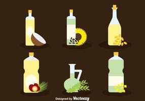 Herbal Oil Collection Vector