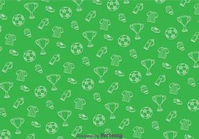 Soccer Green Pattern vector