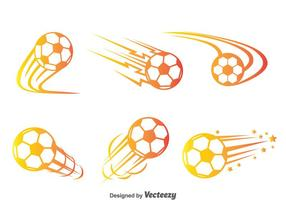 Voetbalbal Bewegings Vector