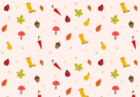 Autumn Pattern Vector gratuito