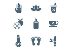 Spa and Relaxation Vector Icons