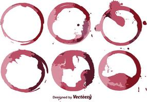 Abstracte Wijn Vlek Vector Set