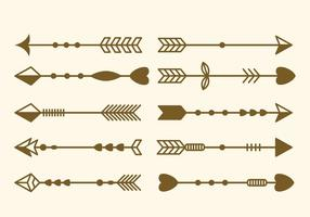 Free Set of Arrow Ilustraciones Vectoriales De Clip Art