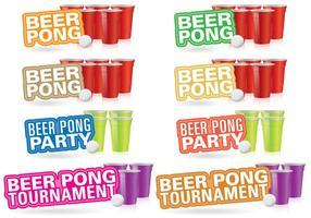 Títulos de cerveza Pong vector