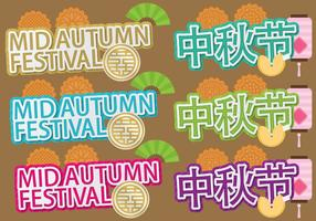 Mid Autumn Titles vector