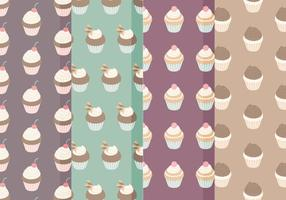 Vector Cupcake Patroon