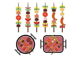 Brochette Icons Vektor