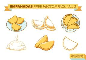 Empanadas Libre Vector Pack Vol. 3