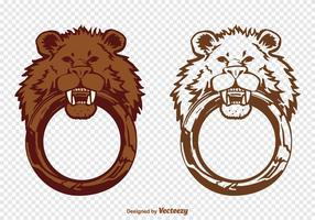 Vector Lion Door Knocker