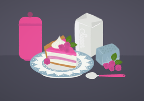 Vector Framboise Pie Illustration