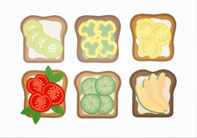 Vector Sandwiches En Toastjes