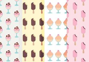 Vector Ice Cream Patterns