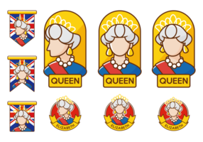 Vector Queen Elizabeth