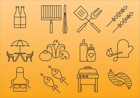 Grill And Bbq Icons