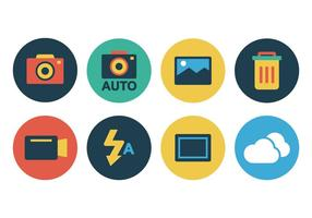 Gratis Flat Camera Icon Set