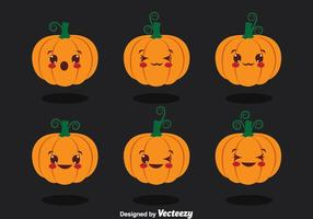 Cute Pumpkin Collection Vector