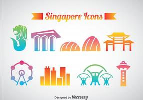 Sinagpore Icons Vector