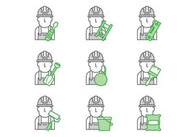 Gratis Bricklayer Vector