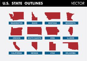 U.S. State Outlines Vector