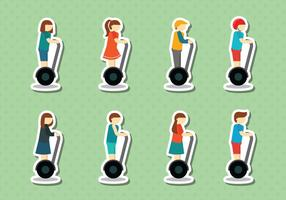 Segway People Vector gratuito