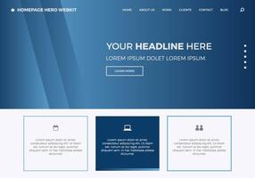 Homepage gratuite Hero Webkit 7