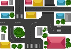 Roundabout Map Vector