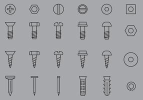 Nail And Screw Icons vector