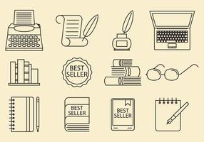 Writer Icons vector