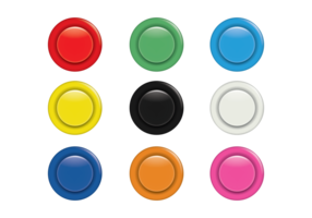 Colorful Arcade Button Set