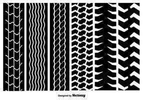 Seamless Tire Marks Vector Textures