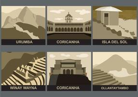 Incas-landmarks-vector