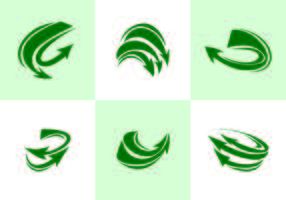 Vettore verde di Flechas