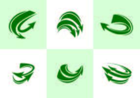 Grön flechas vektor