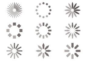 Conjunto de vetores de preloader de círculo