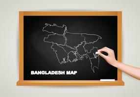 Gratis Bangladesh Kaart Krijtbord