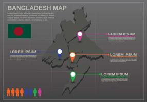 Free Bangladesh Map Infography