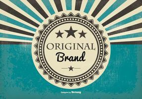 Retro stijl originele merk illustratie