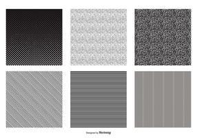 Padrões vetoriais em preto e branco sem costura