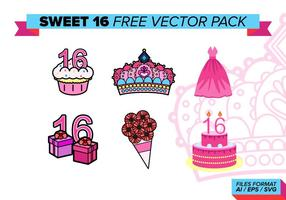 Sweet 16 pack gratuit de vecteur