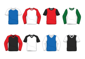 Men's Raglan t-shirt vector
