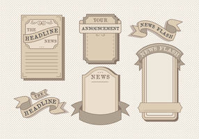 Gamla Vintage Newspaper Vector Pack