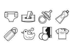 Free Neugeborenen und Mutter Supplies Icon Vector