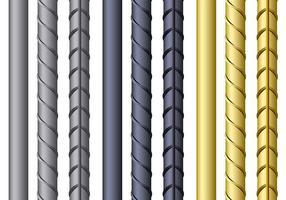 Diseños de vectores de barras de refuerzo