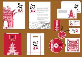 Tai Chi Profile Template vector