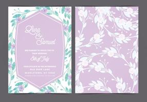 Vector lila huwelijksuitnodiging