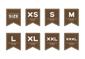 Free Cloth Size Label vector