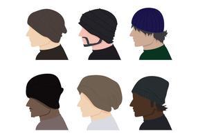 Manliga hattvektorer