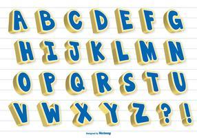 Alphabet vectoriel 3D