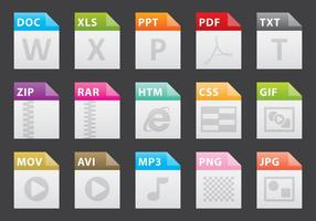Colorful File Icons vector